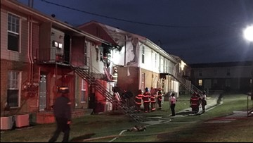 Fire breaks out at Macon apartment building