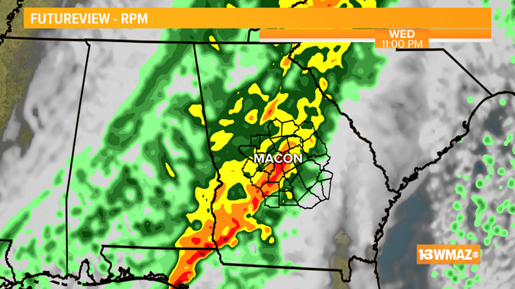 Rain on the way for Wednesday evening, back to dry and chilly by late week