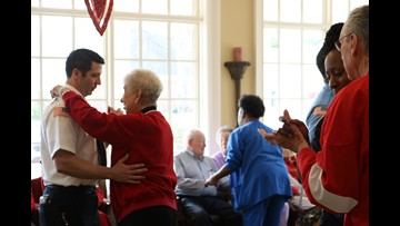 First responders special guests at senior living Valentine's dance