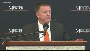 Mercer's new head coach Drew Cronic introduced