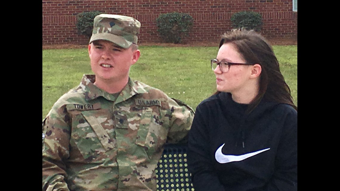 Army soldier comes home, surprises niece at Jones County school