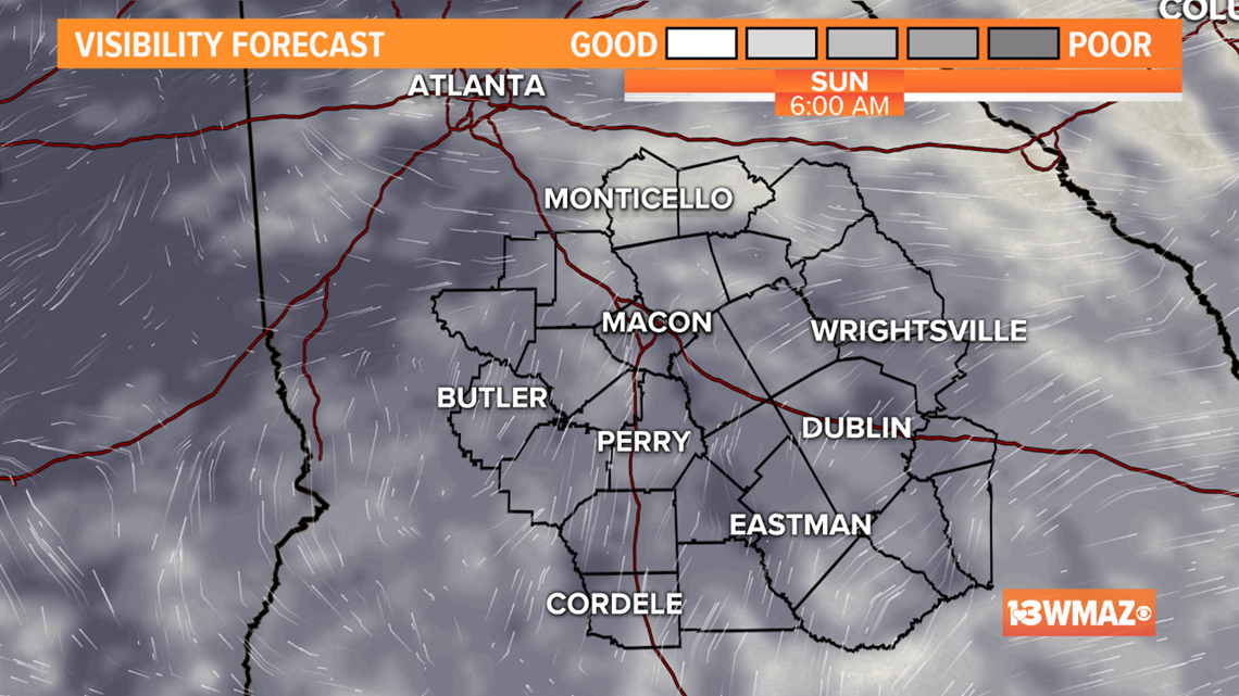 Dry tonight, patchy dense fog by morning