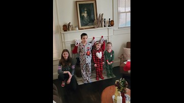 Family celebrates 'Quarantinemas' to help kids cope with coronavirus