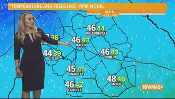 Courteney's Monday forecast