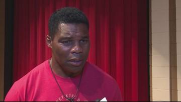 Herschel Walker speaks at Veterans High School