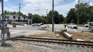 Accident knocks out utility pole, traffic lights in Macon