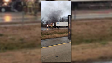 Two killed in fiery crash on I-16 eastbound