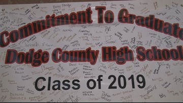 Dodge County High School scores in the state's top 24 highest graduation rates