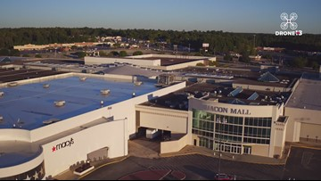 Drone 13 checks out the Macon Mall before the Christmas rush