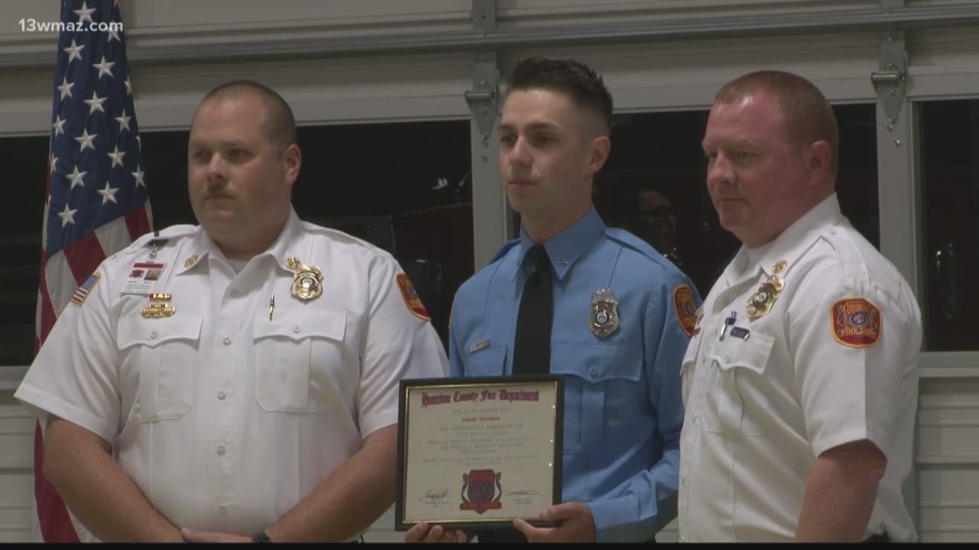 Slain Peach County Sgt. Patrick Sondron's son graduates ...