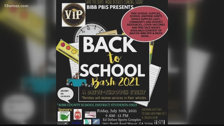 Bibb County Schools back-to-school bash set for Friday