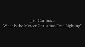 What is the Mercer Christmas tree lighting?