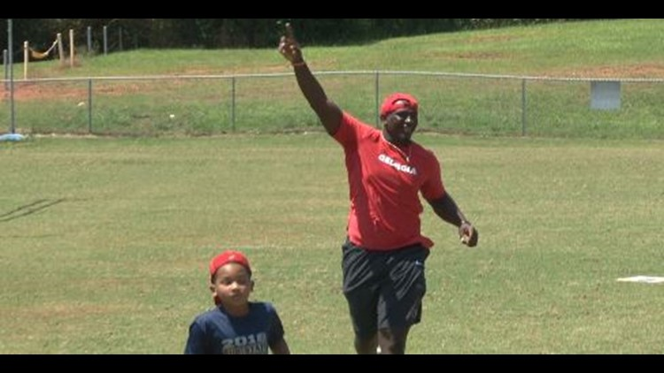 UGA's Malik Herring Hosts 'Kids Fun Day'