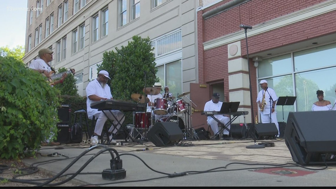 Enjoy smooth jazz outside the Douglass Theatre this Sunday