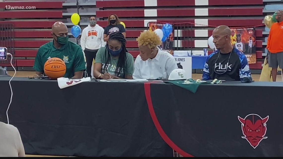 Warner Robins High School student athletes celebrate college signings