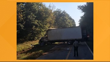 Box-truck driver hospitalized after Monroe County wreck