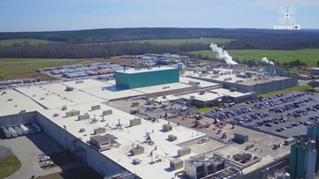Drone 13 checks out Perry's Frito-Lay plant