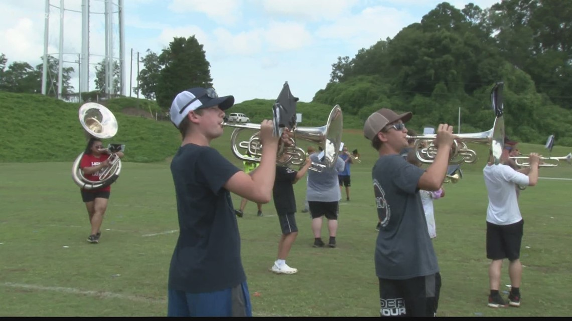 Central Georgia high school bands prepare for Football Friday nights