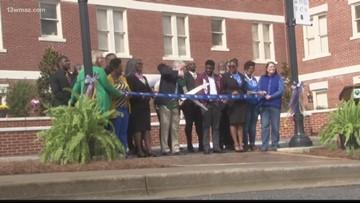 Plaza dedication ceremony at Georgia College
