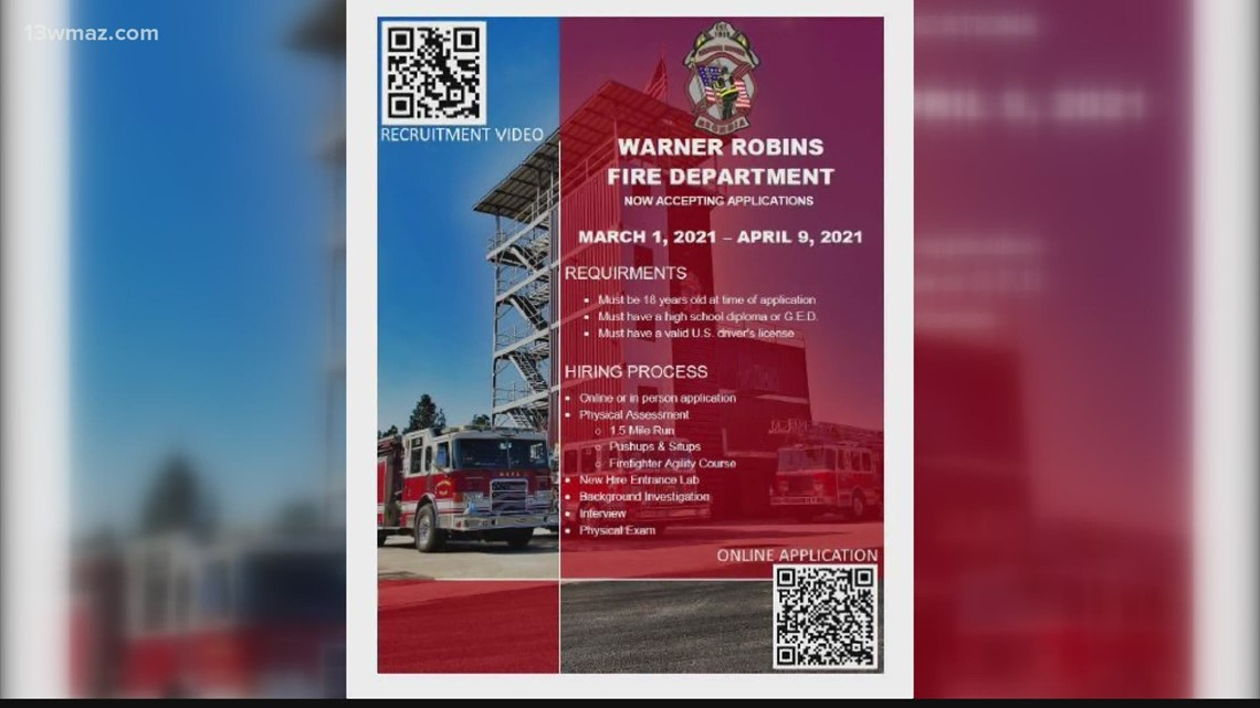 Warner Robins Fire Department looking to hire new firefighters