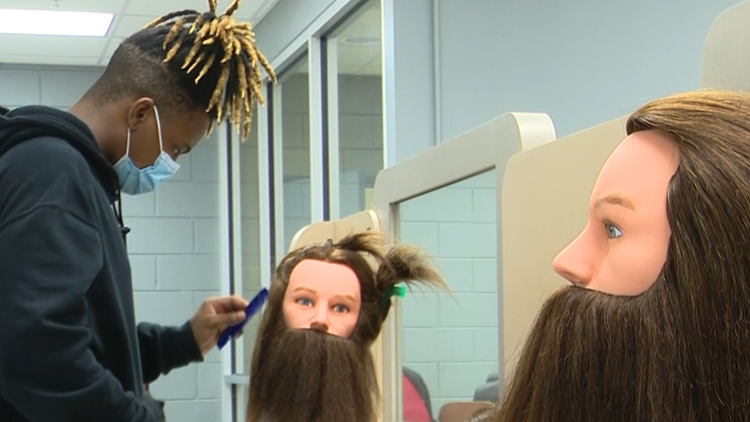 Dublin High cosmetology students gain real-world experience inside the classroom