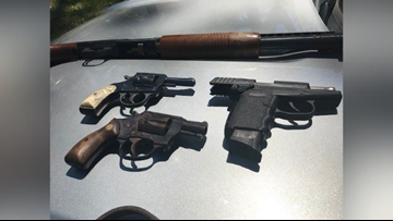 Stolen guns found stuffed in mattress behind south Macon house