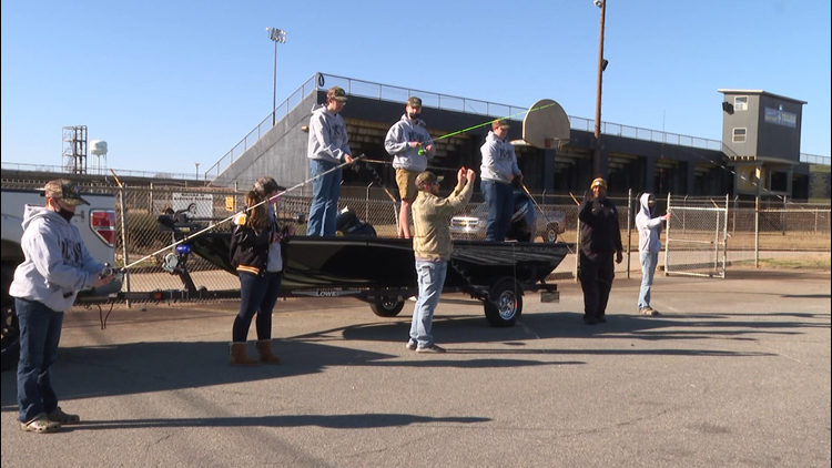 Peach County High School's bass fishing team gets ready for competition