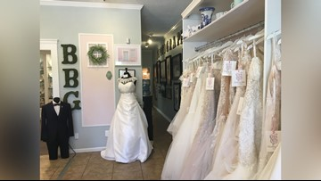 Perry bridal shop to give away dresses to 12 military brides