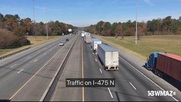 Standstill traffic on I-475 N