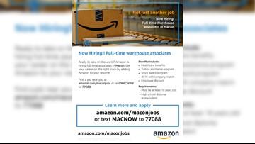 Amazon starts hiring full-time employees in Macon