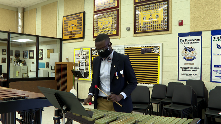 'He's driven to be excellent': Peach County High student named Georgia's top percussionist