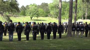 'We all stand together': Georgia law enforcement officers help lay Bibb County deputy to rest
