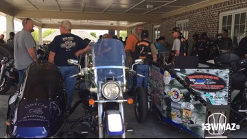 Bikers prepare for Robert 'Lil Man' Davis funeral procession