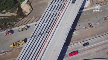 Latest Drone 13 flight shows dramatic progress along the Macon interchange project