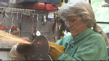 'You can't let them discourage you:' Macon woman helps pioneer world of welding for women