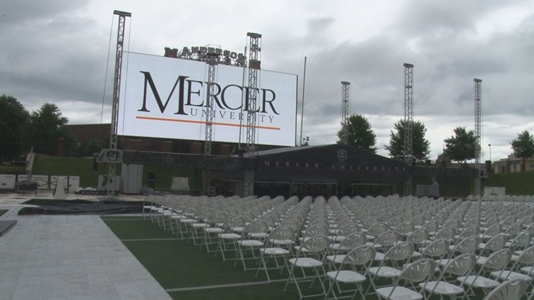Mercer's graduation held at Five Star Stadium for the first time
