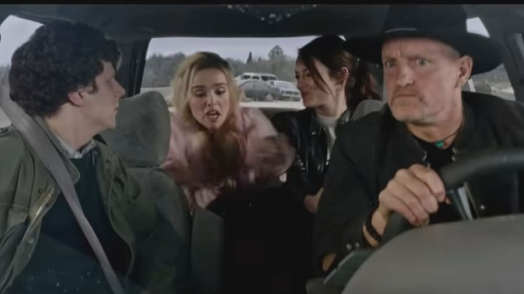 Zombieland 2 trailer shows cast on Macon Eisenhower Parkway bridge