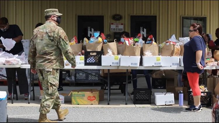 100+ Warner Robins families fed in drive-thru food giveaway
