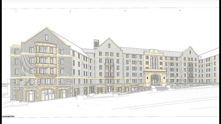 Residence hall rendering