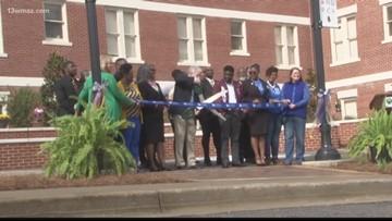 Plaza dedication at Georgia College