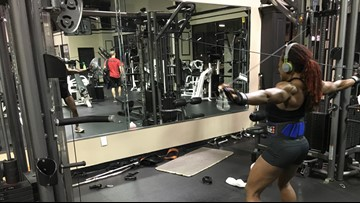 AMPED UP: Dee Hill is a self proclaimed, glorified gym rat