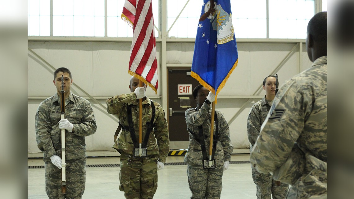 PHOTOS: Honor Guard practice at Robins AFB