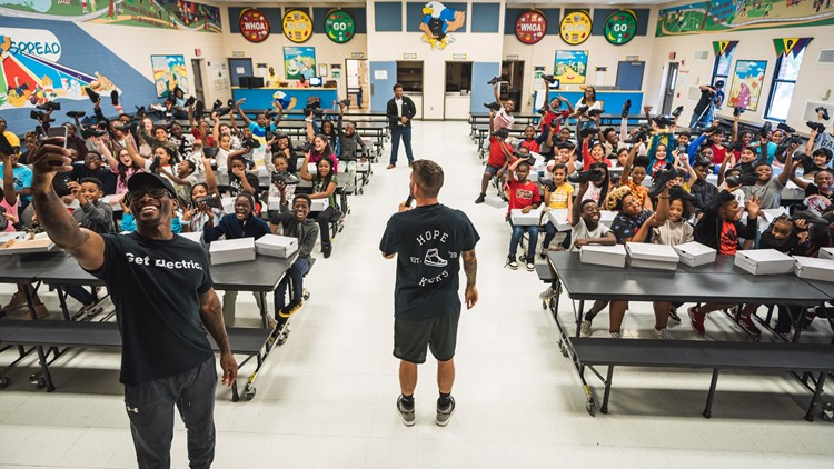 'Something every kid should experience:' 5th-graders get new shoes for the school year