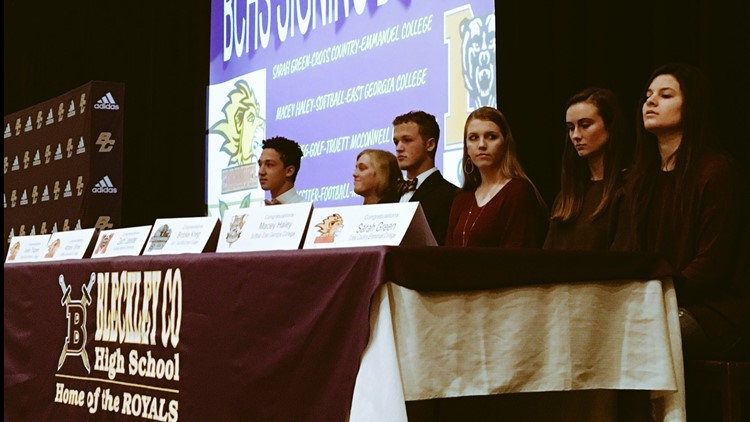 Bleckley HS signees