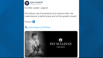 Heisman winner, former Atlanta Falcons player Pat Sullivan dies at 69