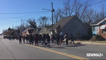 People participate in Macon's annual MLK march