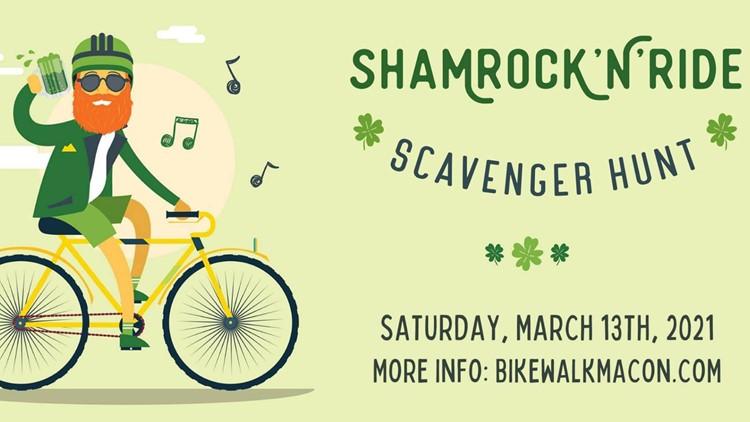 Shamrock, rattle, and roll: Bike Walk Macon plans St. Patrick's Day-themed scavenger hunt