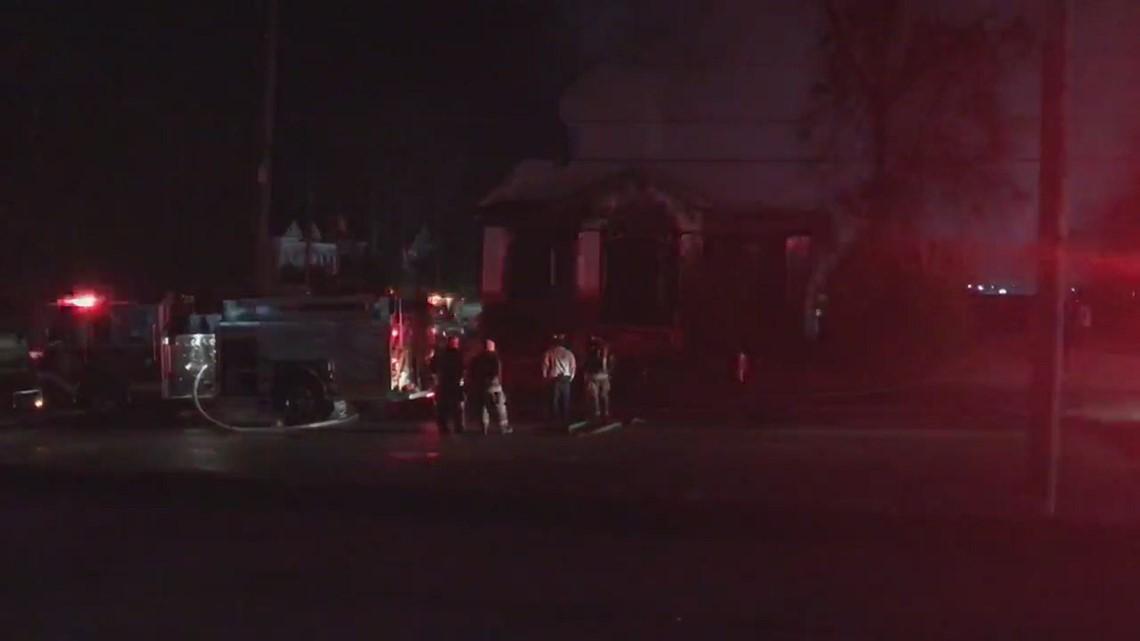 Scene of College Street house fire