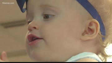 Central Georgia community rallies around baby with cancer