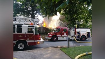 Crews battle fire in Centerville before Memorial Day